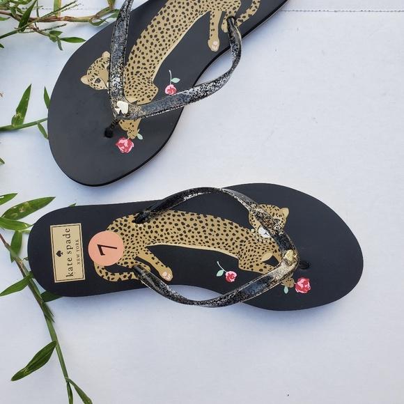 kate spade Shoes - NWOT Kate Spade Size 7 Jaguar Flip Flops
